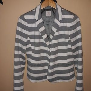 Gap Academy blazer. Gray & white stripes 8